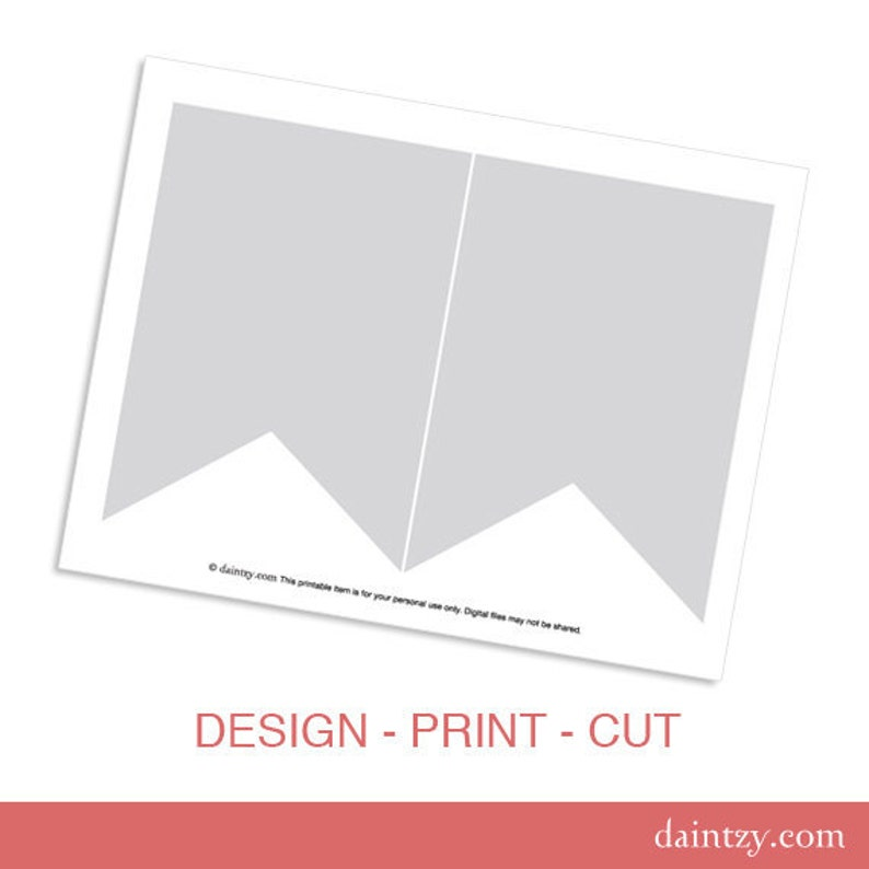 Party Printable Template - DIY Banner Flag Design Template for Cricut or  Silhouette