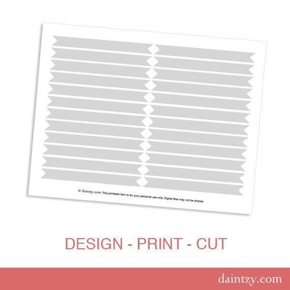 drinking straw flag printable template diy make your own etsy