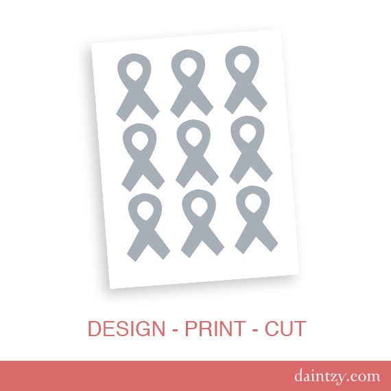 Awareness Ribbon Party And Event Blank Template Diy Etsy