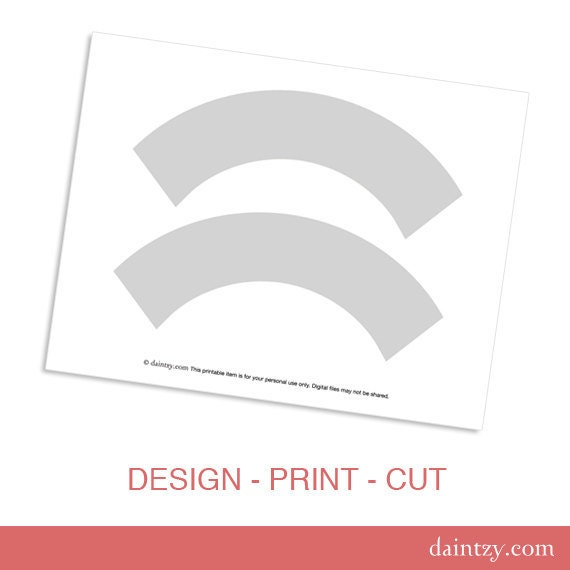 picture regarding Printable Cupcake Wrapper Template identify Cupcake Wrapper Template Printable - Do-it-yourself Generate Your Personalized Celebration Cupcake Wrapper Structure Template - Instantaneous Down load