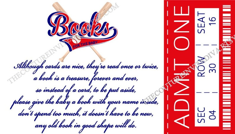 Stock Baby/'s Library Card Book Request Little All Star Books for Baby Baseball Ticket Book Request