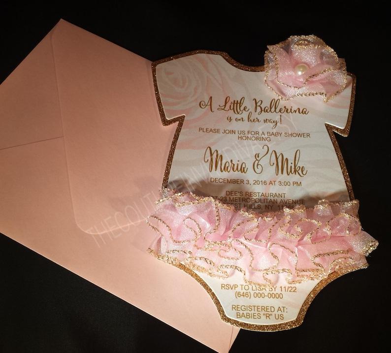 Tutu Baby Shower Invitation Tutu 1st Birthday Invitation Etsy