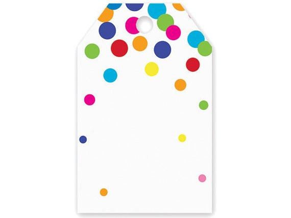sc 1 st  Etsy & Rainbow Confetti Birthday Printed Gift tags Birthday tags | Etsy