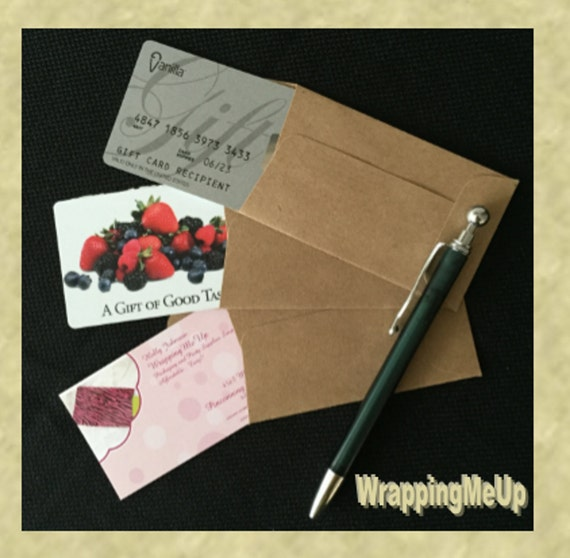 50 225 X375 Mini Enveloppes En Kraft Carte