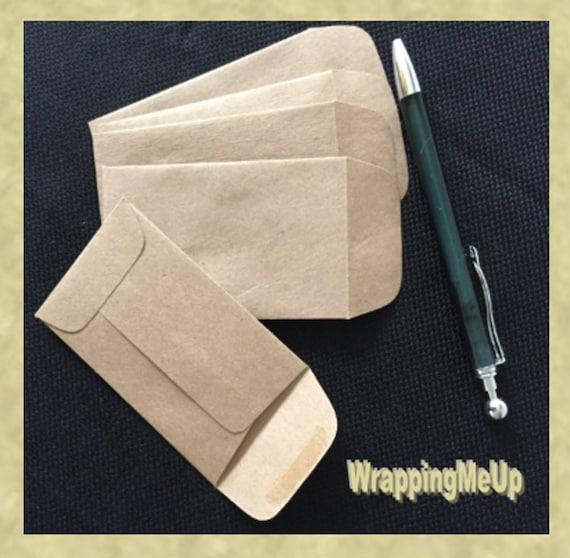 200 225 X375 Mini Enveloppes En Kraft Carte De Visite