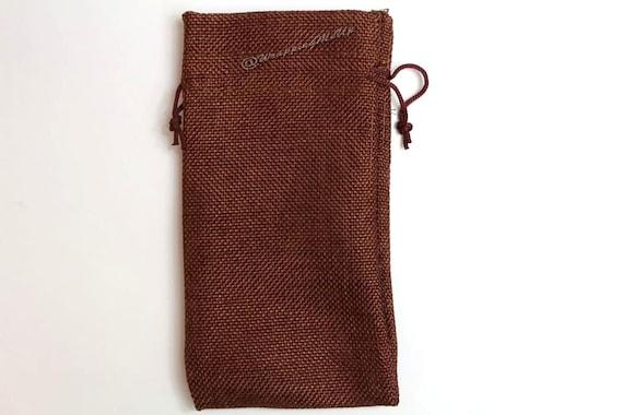 "12pcs ~Dark Burlap Organza bags -3x5"" w/Drawstring, Vintage Gift Bags, Wedding Favor Drawstring Sacks, Party Gift Bags, Jute Bags"