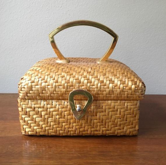 Koret Wicker Handbag, Vintage Koret for Saks Fifth