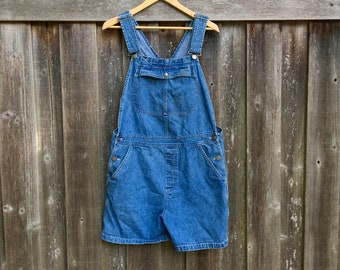 Lee Riveted Dungarees Denim Carpenter Overalls Size L Large Petite Measured Size 36x26 36 x 26 y63ul3EjH