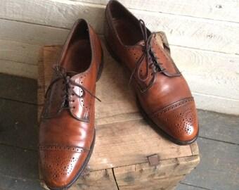d034390ead01 Allen Edmonds brown wingtips - lace up - oxfords - mens shoes - dress shoes  - 9.5 D