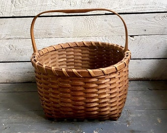 two home decor buttocks style baskets one small.htm sale willow handle fine round reed basket vintage farmhouse etsy  sale willow handle fine round reed