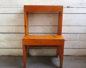 shaker step stool - wood - plant stand - display shelves - hand made