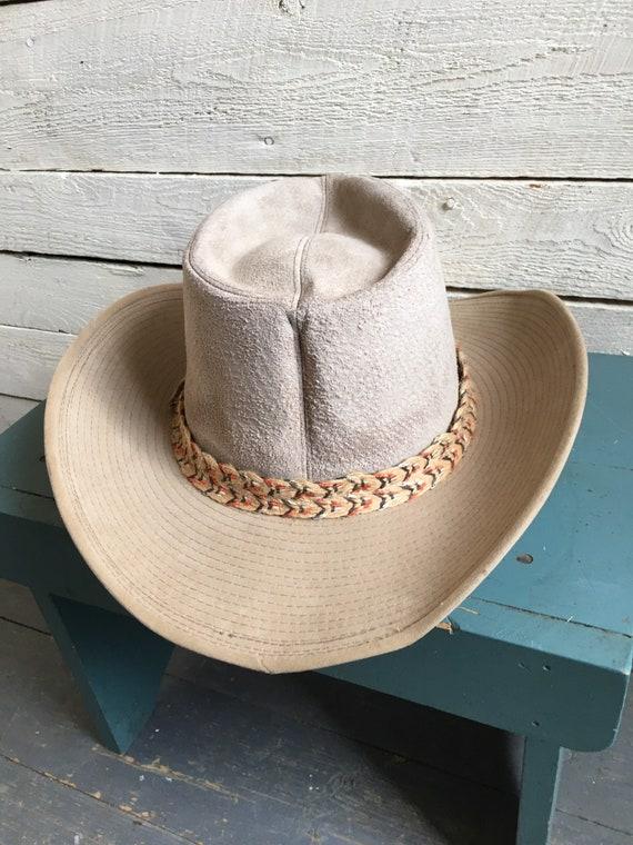 Resistor suede cowboy hat - western hat - mens co… - image 10