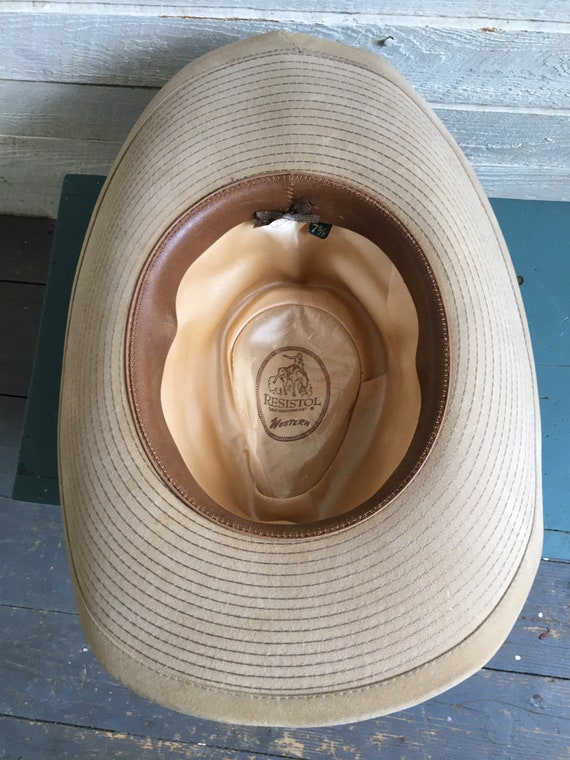 Resistor suede cowboy hat - western hat - mens co… - image 5