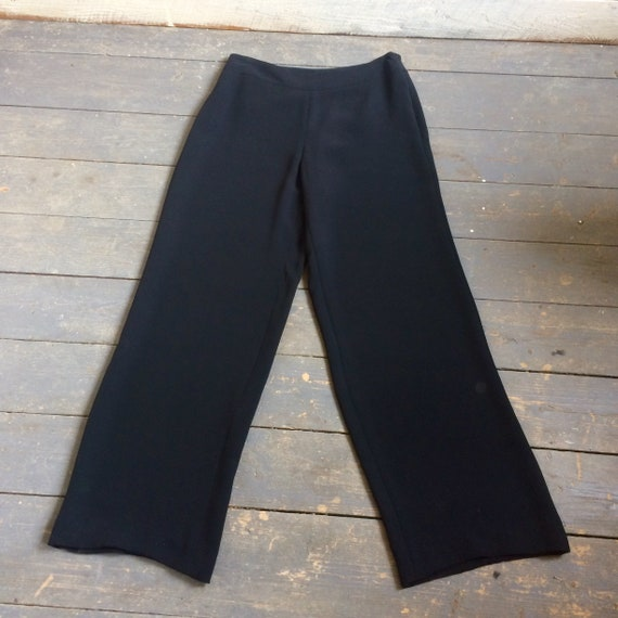 Armani Black Silk Pants