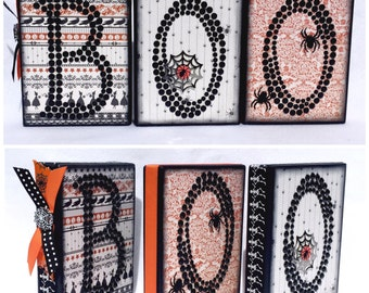 Blinged out BOO blocks