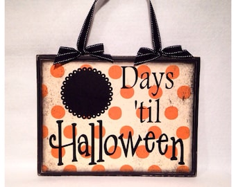 Halloween Countdown Sign