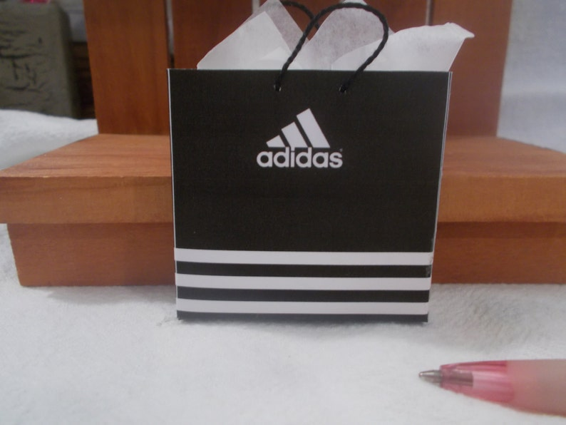 c59b7b7cd127 XL-23 Miniature Adidas shopping bag great for Barbie and