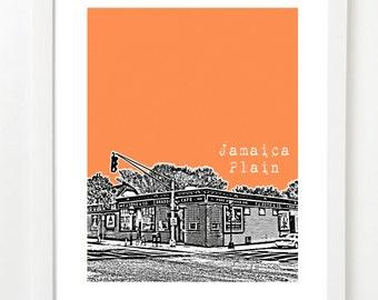 Jamaica Plain, Massachusetts Poster - Jamaica Plain City Skyline Art Print - Jamaica Plain, Boston