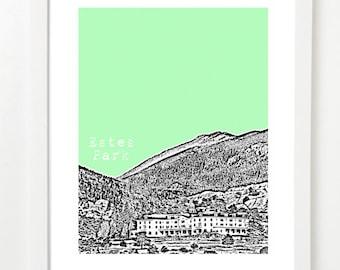Estes Park Colorado - Estes Park Art Print - Estes Park Gift -