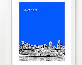 Durham Skyline Poster - Durham North Carolina Art Print - VERSION 2