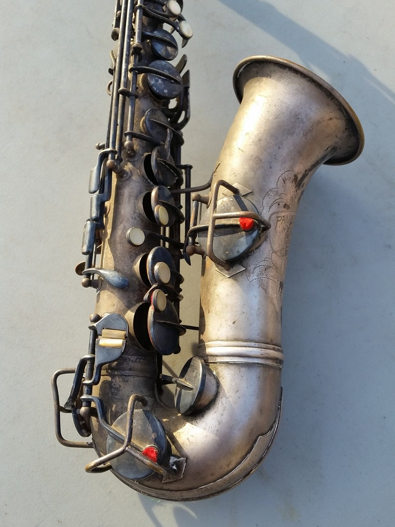 Conn Pan American decorated silver alto Sax