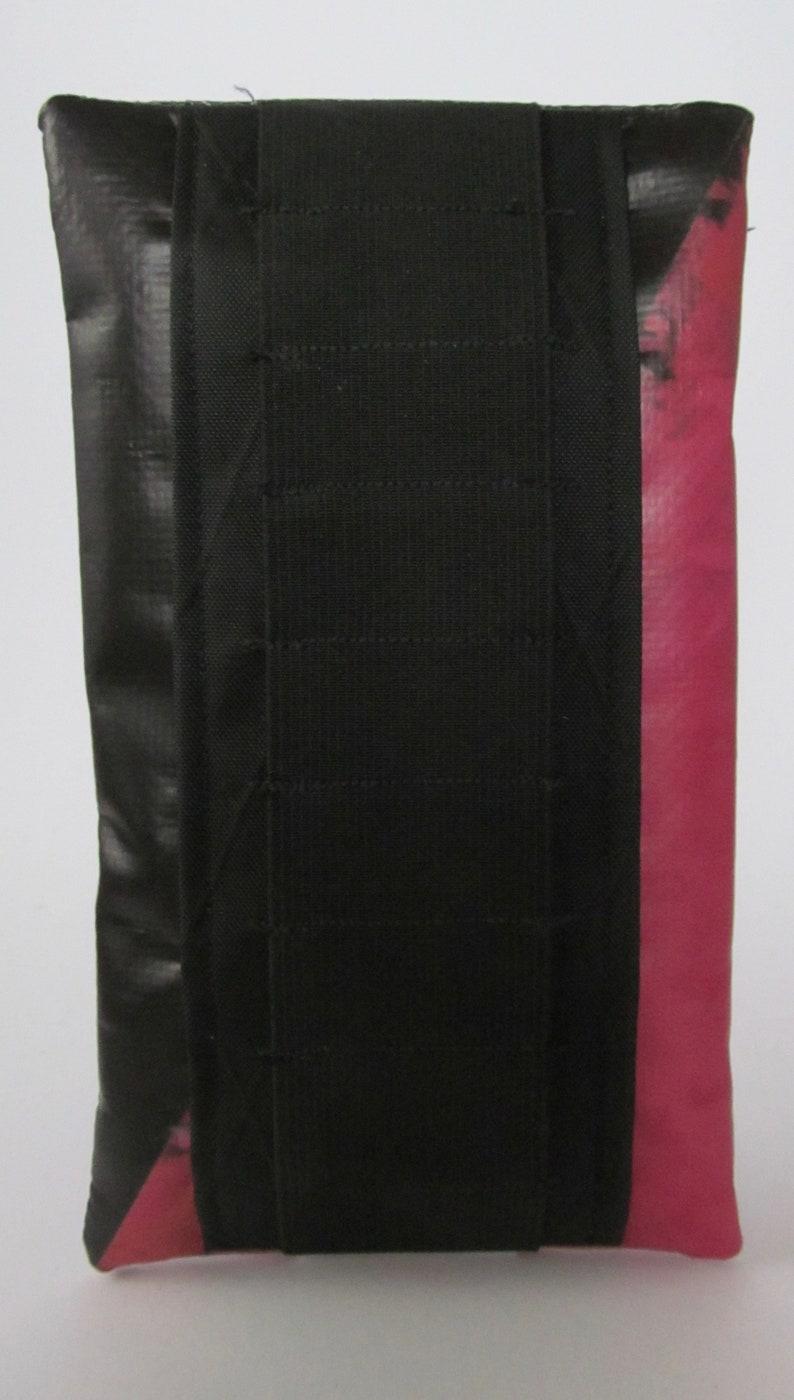 Pink and Black Multi-use Saddle BagEssentials CaseTool PouchHandbag