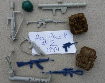 GI Joe Battle Gear Accessory Pack #3 Firefly MACHINE GUN rifle Vtg weapon 1985