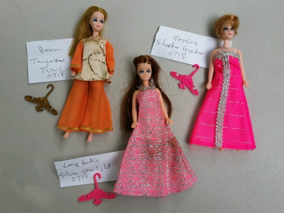 Dawn Dolls By Topper Dressed With Outfits Used