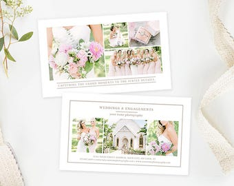 Photography Business Card Template, Photography Business Forms, Business Card Design Photoshop, Photography Marketing Branding Organic Set