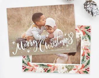 Christmas Card Templates for Photographers, Christmas Photo Cards, Christmas Cards With Photo, Christmas Photo Card Template Photoshop HC324