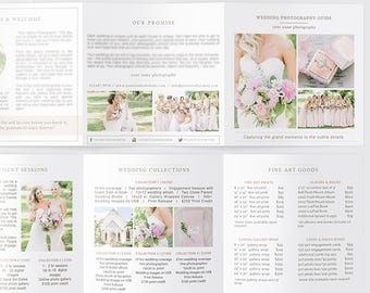 Wedding Photography Pricing Template, Photography Price List Template, Photographer Pricing Trifold, Photography Pricing Guide Organic Set