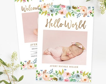 printable birth announcements templates