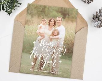 Christmas Card Templates for Photographers, Christmas Photo Cards, Christmas Cards With Photo, Christmas Photo Card Template Photoshop HC321