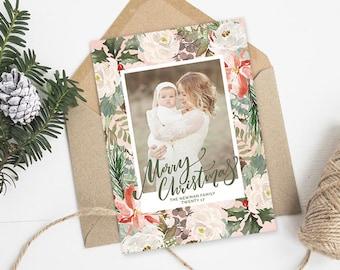 Christmas Card Templates for Photographers, Christmas Photo Cards, Christmas Cards With Photo, Christmas Photo Card Template Photoshop HC322