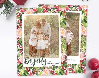 Christmas Photo Card, Christmas Card Template, Christmas Photography Template, Christmas Card Printable, Holiday Photo Cards HC309
