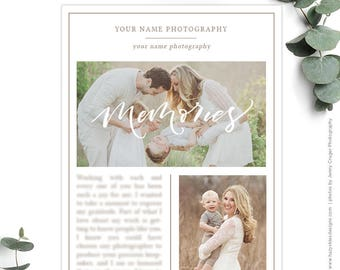 Year in Review Newsletter Template, Photography Email Newsletter Templates, Photography Marketing Templates, Photography Advertising NWS114