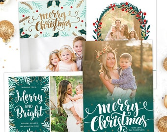 christmas card templates for photographers christmas photo card template for photoshop holiday card template photography templates hc30103 - Christmas Card Templates For Photographers