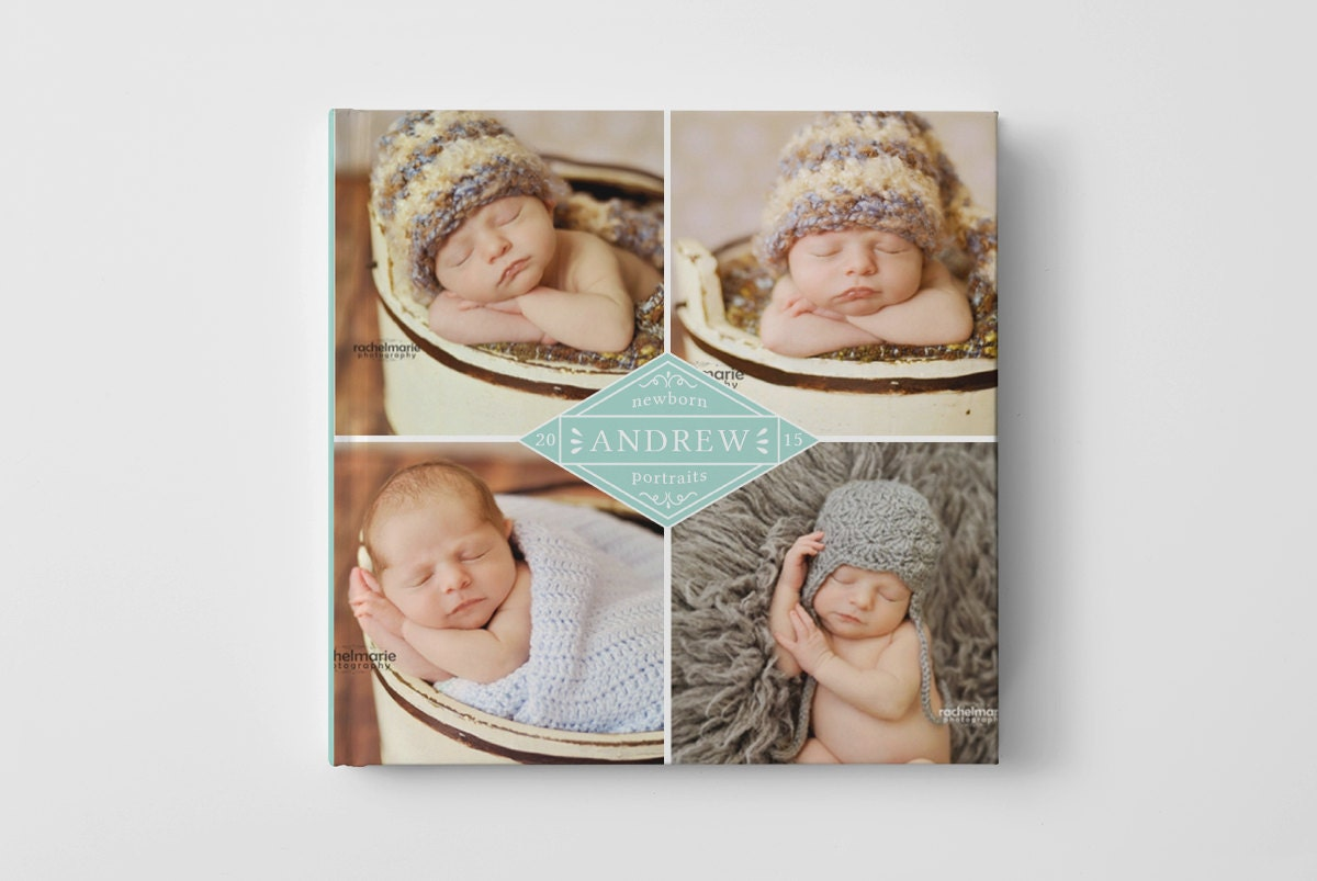 Baby Photo Book Cover Template For Photographers Baby Book Etsy