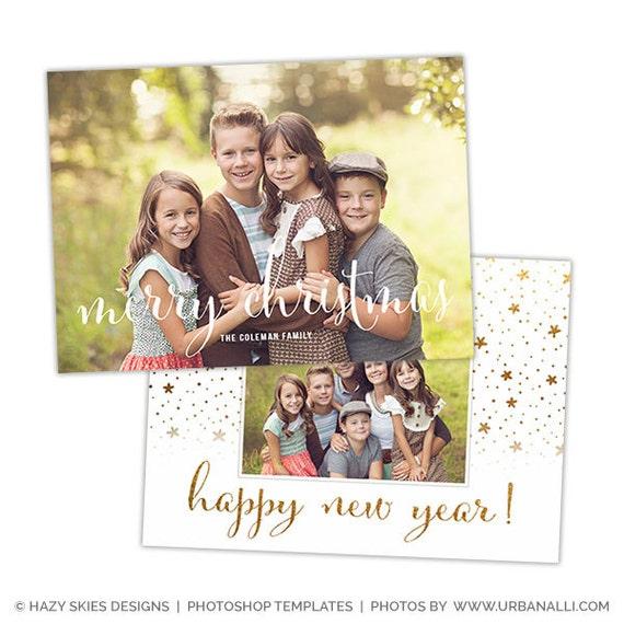 Christmas Card Template For Photographers Christmas Photo Etsy