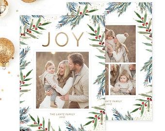 Christmas Photo Card, Christmas Card Template, Christmas Photography Template, Christmas Card Printable, Holiday Photo Cards HC320