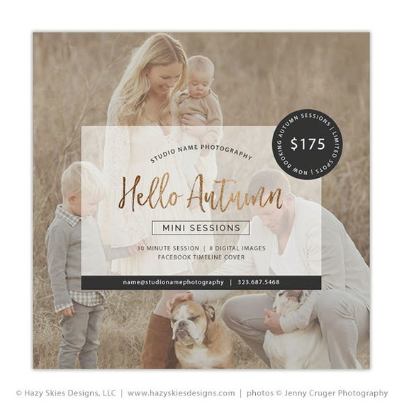 Fall Mini Session Template Photography Marketing Templates Etsy