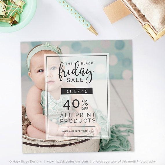 Black Friday Template Photography Marketing Template Holiday Etsy