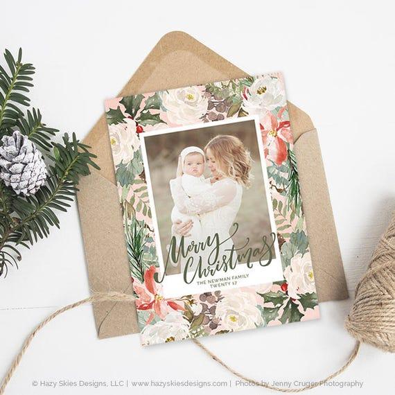 Christmas Card Templates For Photographers Christmas Photo Etsy