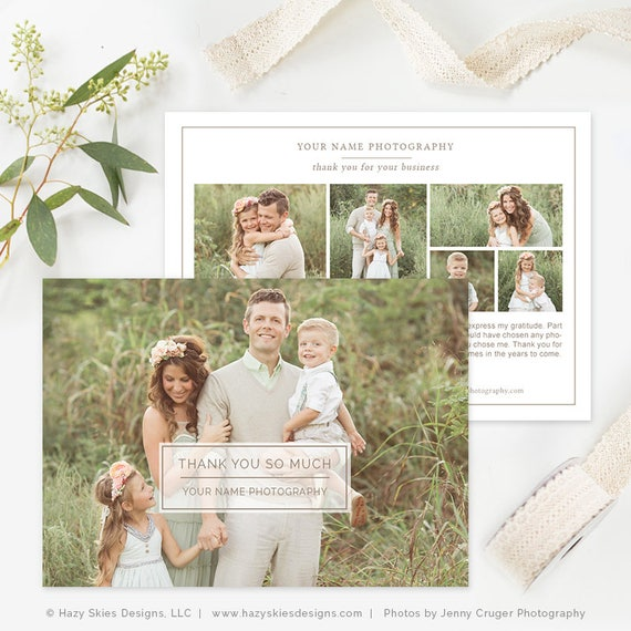 Photography Thank You Card Template Photography Forms Etsy