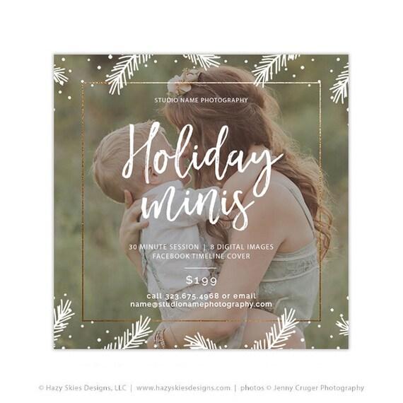 Holiday Mini Session Template Christmas Photography Marketing Etsy