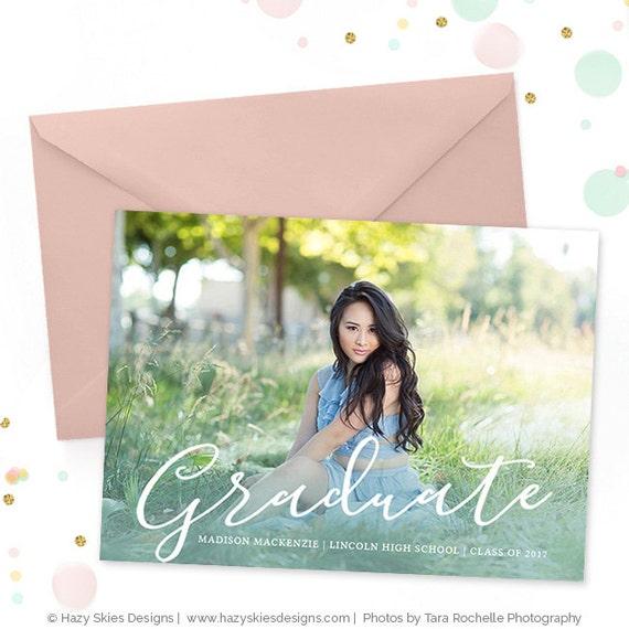 Senior Graduation Invitation Template Senior Graduation Etsy