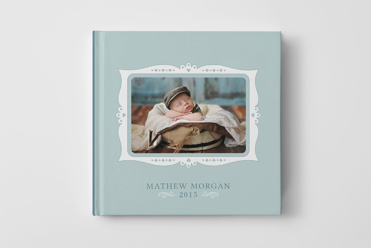 Photo Book Cover Template For Photographers Baby Book Etsy