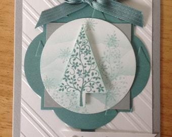 Stampin Up handmade Christmas card - festival of trees