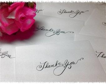 custom wedding calligraphy thank you notes letters mother father bridesmaid bride groom steel nib dip pen handwritten
