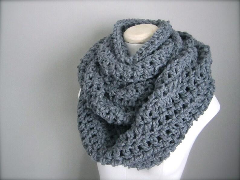 Crochet bufanda Infinity de grueso espesor Extra larga hecho  5d89ee27271
